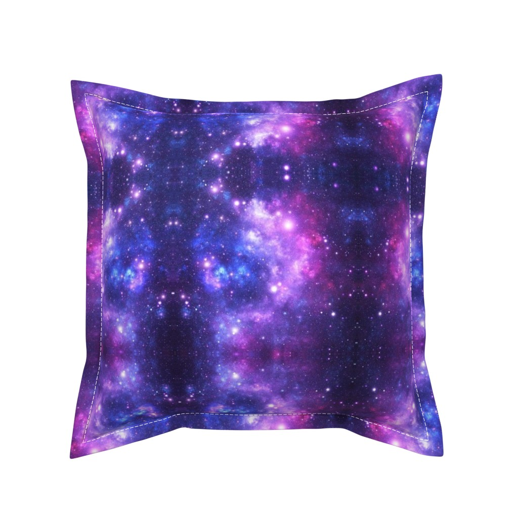Serama Throw Pillow featuring Purple Space Stars (small print) by inspirationz