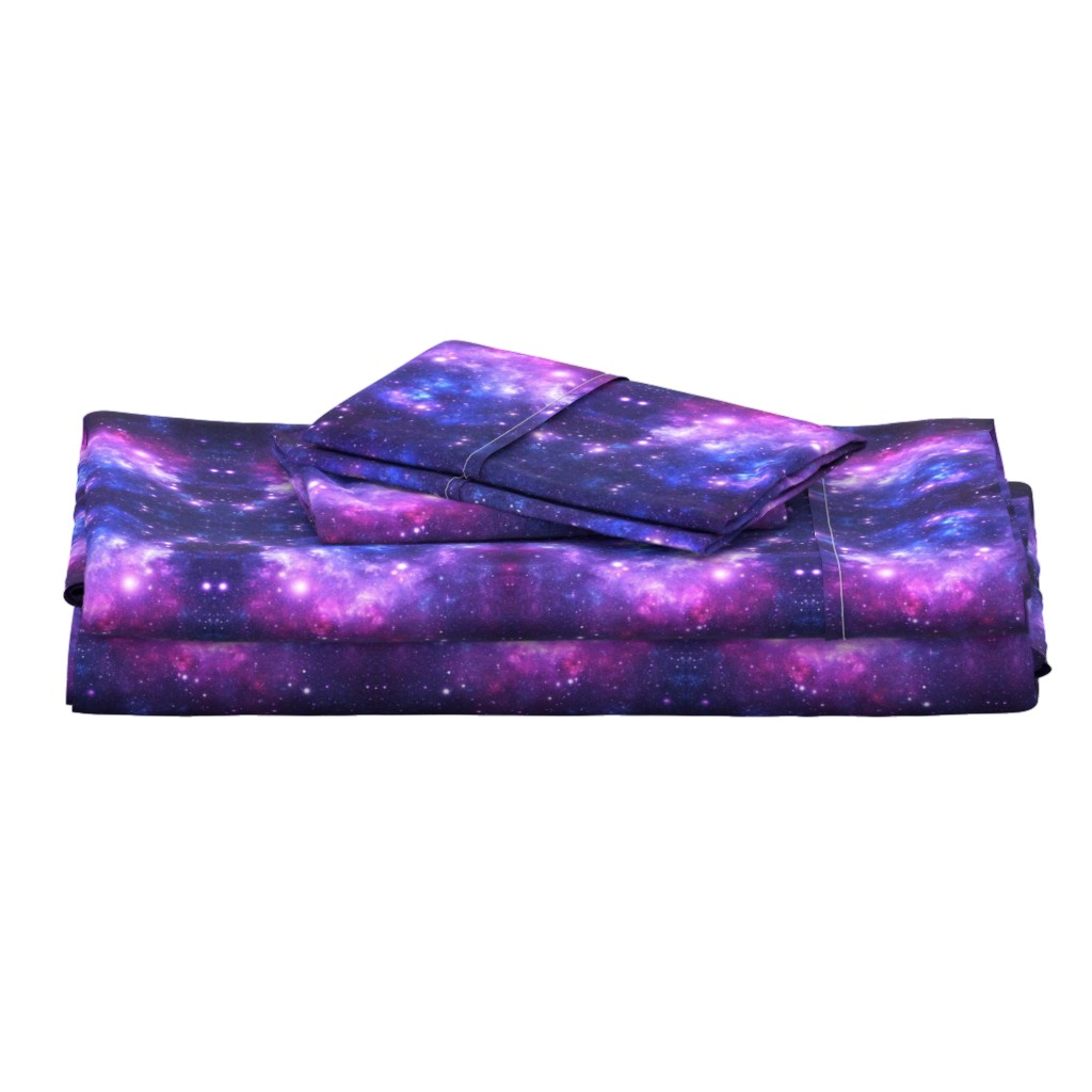 Langshan Full Bed Set featuring Purple Space Stars by inspirationz
