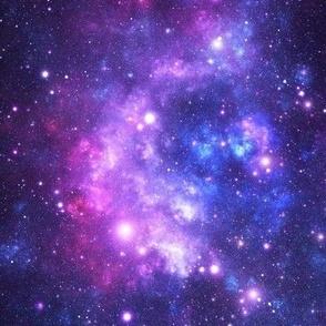 Purple Space Stars (small print)