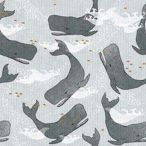 Whales (dark) SMALL