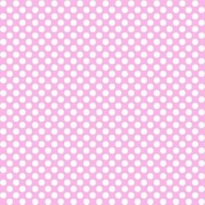 Polka Dots light pink x white