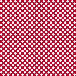 Polka Dots red x white