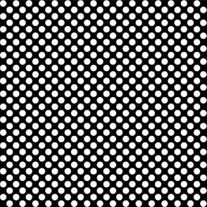 Polka Dots black x white