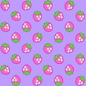 Strawberries violet