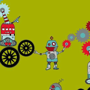 Clock Robots At Work