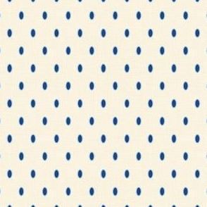 Oval Dots in Indigo and Natural