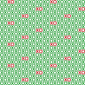 XOXO : green + red : small