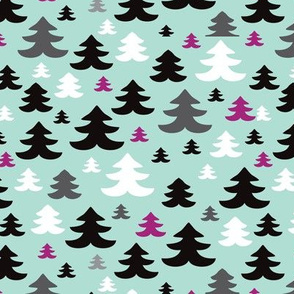 Pine tree winter wonderland cristmas forest