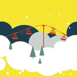 Cloud skiing