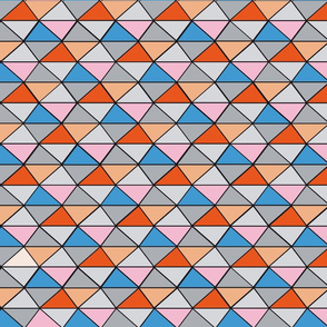 Triangles (pink and blue)
