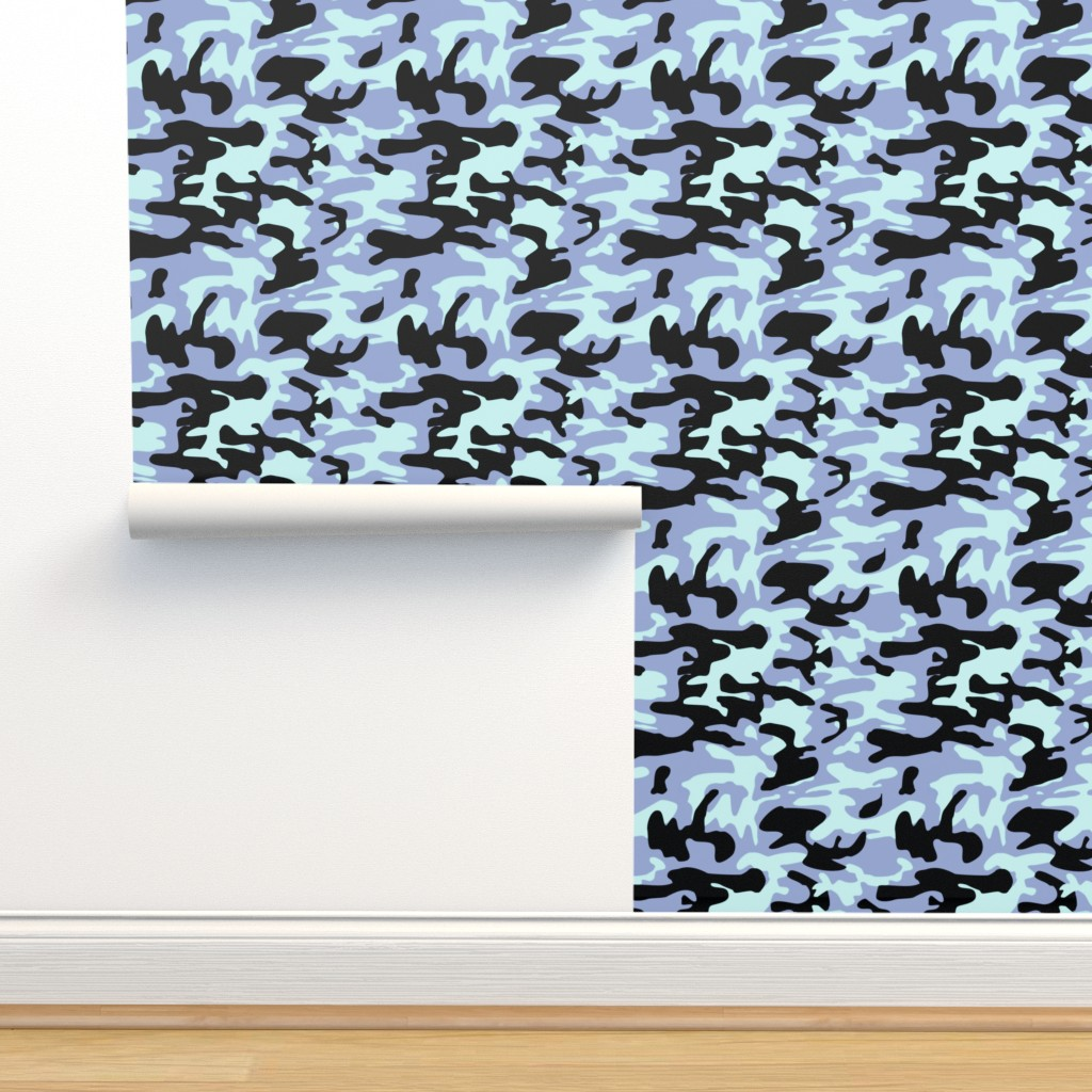 Blue Camo Army Pattern On Isobar By Inspirationz Roostery