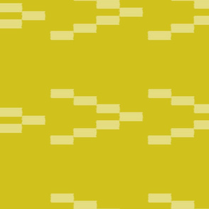 Ikat Arrows - White on Mustard