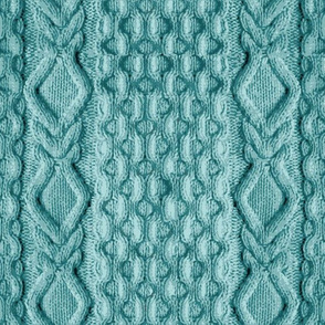 Teal Knitted Cables