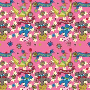 Bears & stars pink