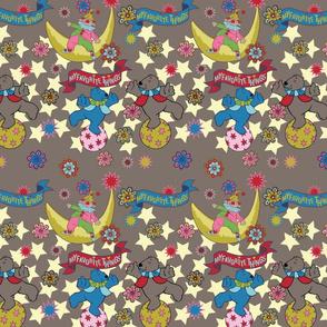 Bears & stars taupe