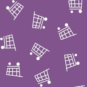 Grocery Carts tossed on purple
