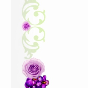 "52"" Cloth Violets and Roses Shell Border"