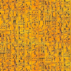 Hieroglyphics Papyrus in Crushed Orange