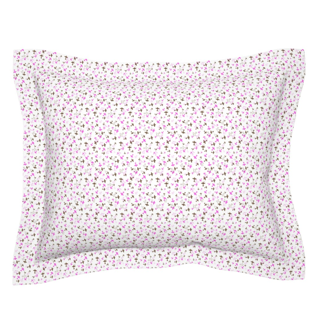 Sebright Pillow Sham featuring Scattered Biplanes by justbethjustbecause