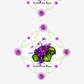 Chair toppers  Violets and Roses Shell  Background