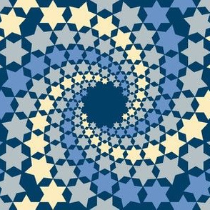 02638515 : mandala12 : twilight blue stars