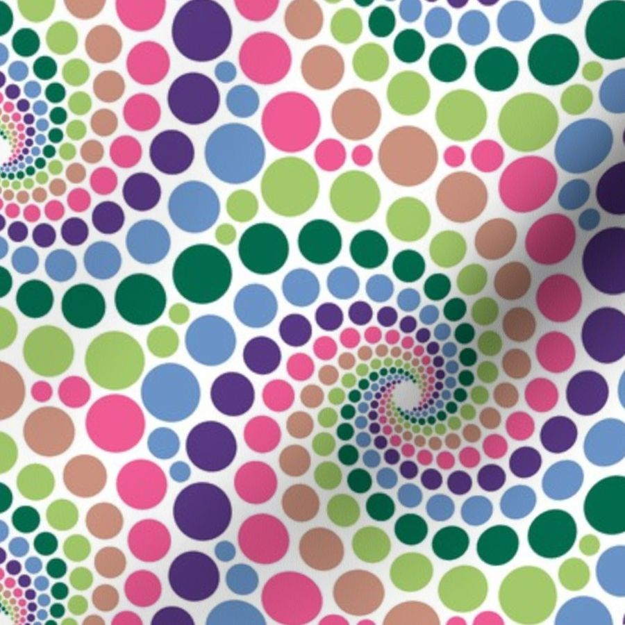 Fabric by the Yard 02638620 : mandala 12~ : seeing spots before the eyes