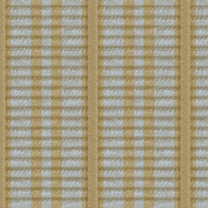 Grosgrain Ribbon ~ Striped Gilt and Versailles Fog