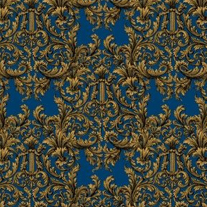 The Cissie Villa Damask ~ Gilt and Lonely Angel