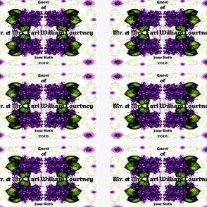 """Violet Place cards """"Sample"""""""