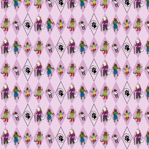 Bouffons du Carnaval Chien - pink
