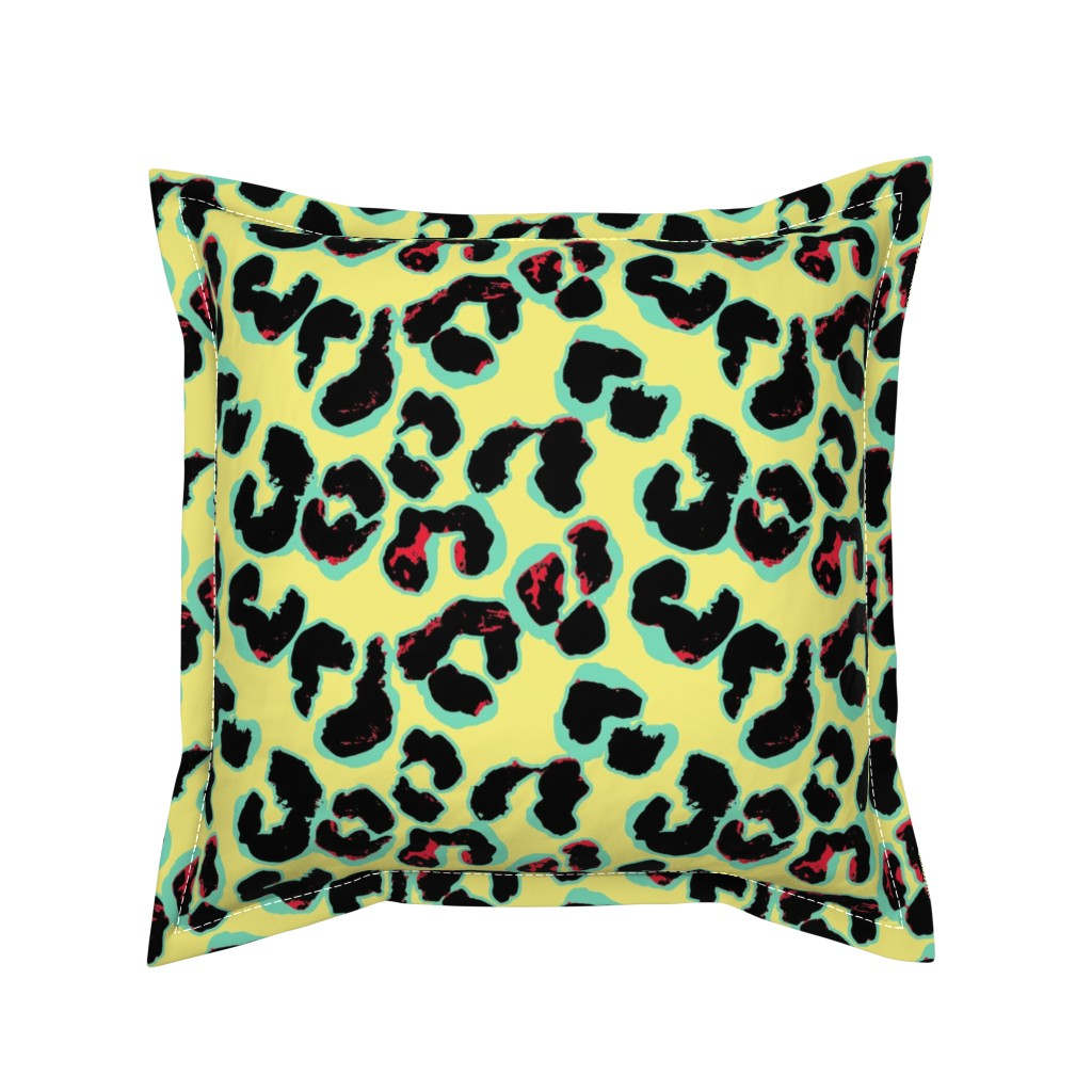 Serama Throw Pillow featuring Leopard by susanna_nousiainen