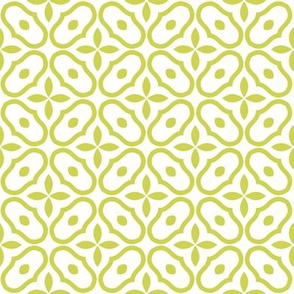 Little Mosaic - White and Vintage Green