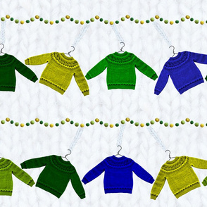 hanging sweaters