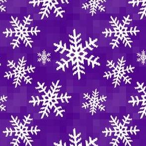 8-Bit Snow Flake - Purple