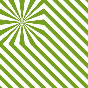 Stripes explosion - Green