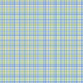 Spring Plaid - green, blue, gold