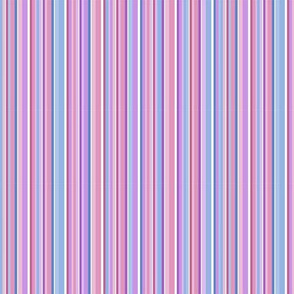 Spring Stripes - blue, rose, lavender