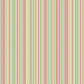 Spring Stripes - gold, green, peach