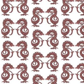 Dragons at Dawn - Dark Red