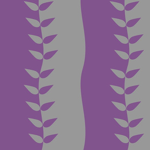 Purple and Grey Wavy Leaves