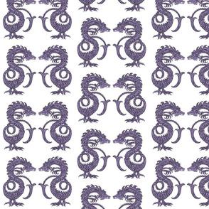 Dragons at Dawn - Dark Purple