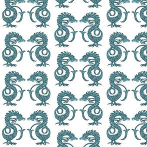 Dragons at Dawn - Deep Teal