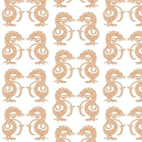 Dragons at Dawn - Soft Orange
