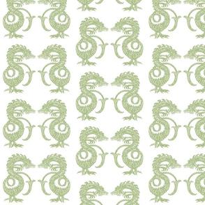 Dragons at Dawn - Soft Green