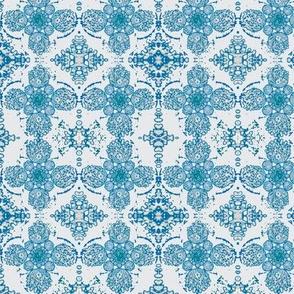 irish motif blue