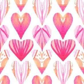 Watercolor Pink Purple Heart