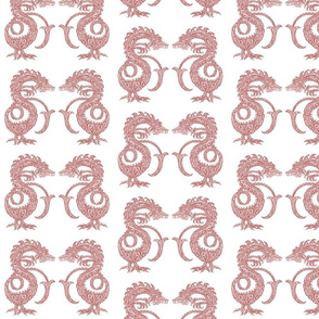 Dragons at Dawn - Soft Red