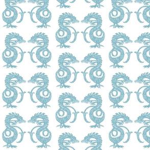 Dragons at Dawn - Soft Teal