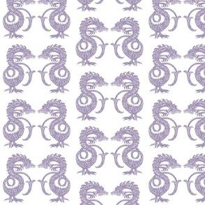 Dragons at Dawn - Soft Purple