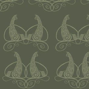 Cat and Mouse - Olive Green